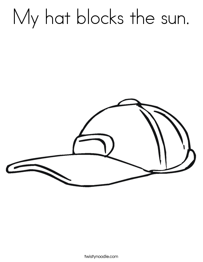 My Hat Blocks The Sun Coloring Page