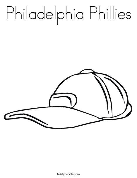 Baseball Cap Coloring Page