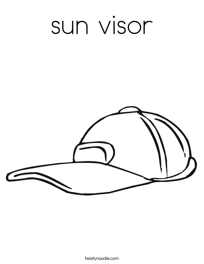 sun visor Coloring Page