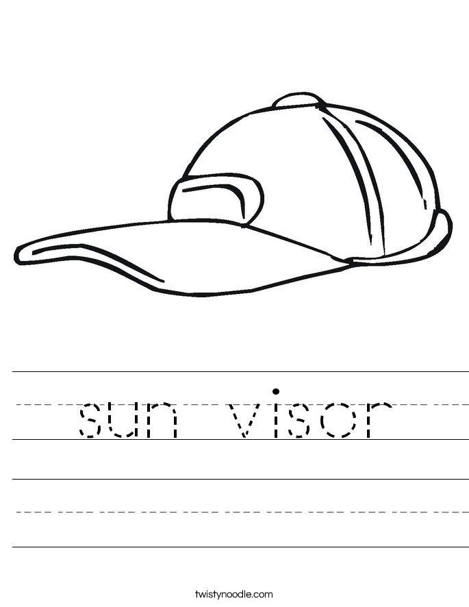 sun visor Worksheet