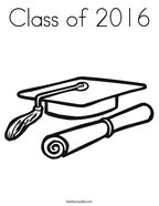 Class of 2016 Coloring Page