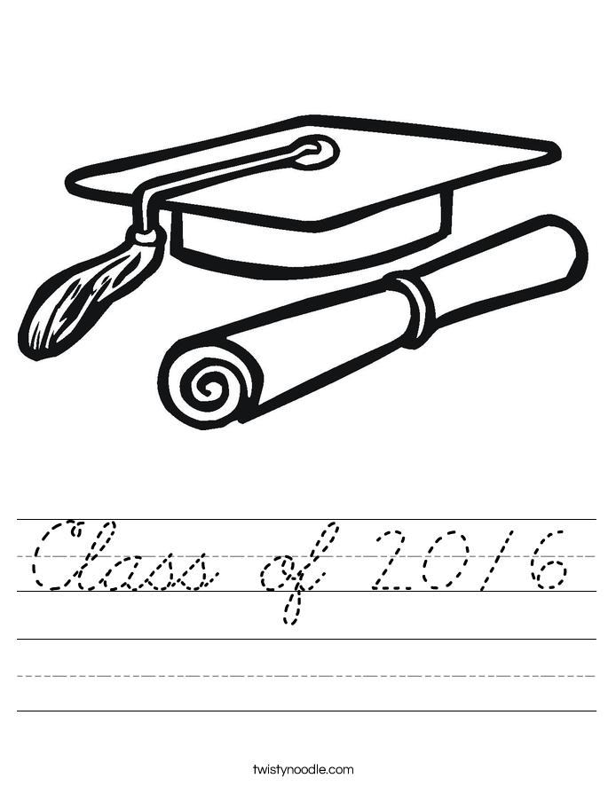 Class of 2016 Worksheet