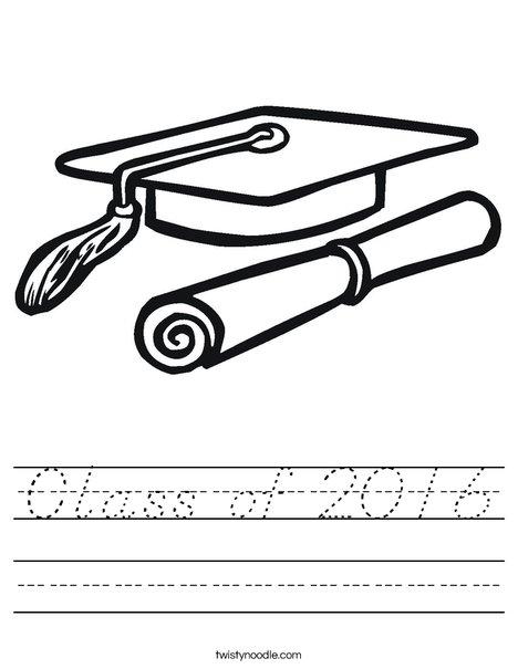 Cap and Diploma Worksheet