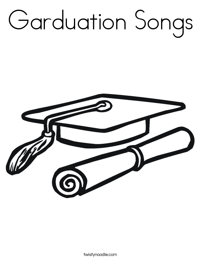 Garduation Songs Coloring Page