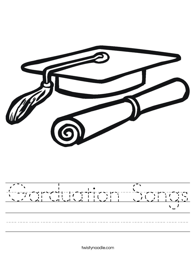 Garduation Songs Worksheet Twisty Noodle