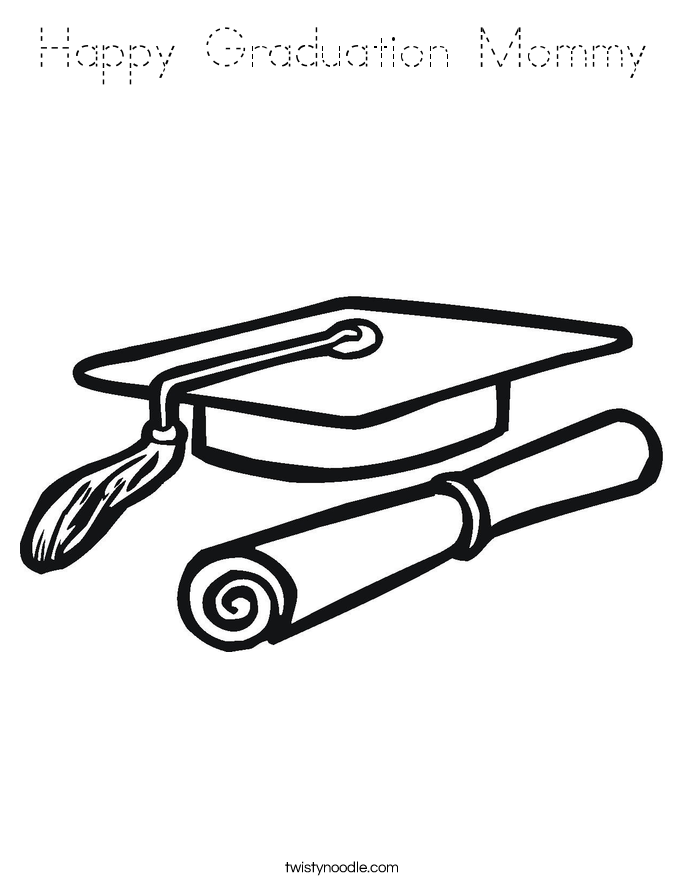 Happy Graduation Mommy Coloring Page
