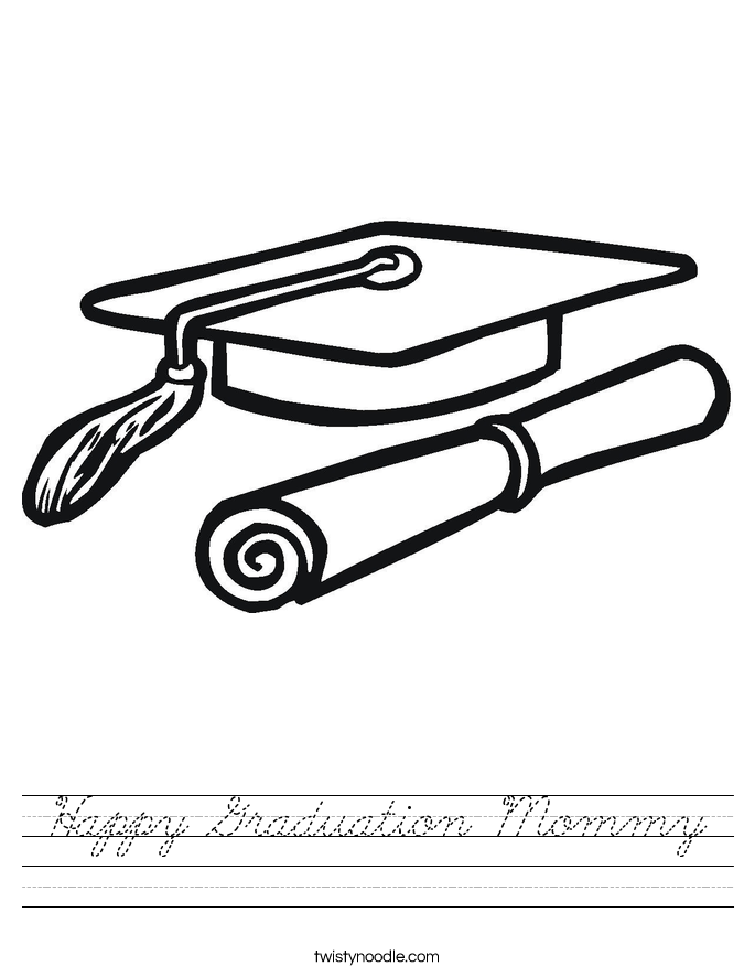 Happy Graduation Mommy Worksheet