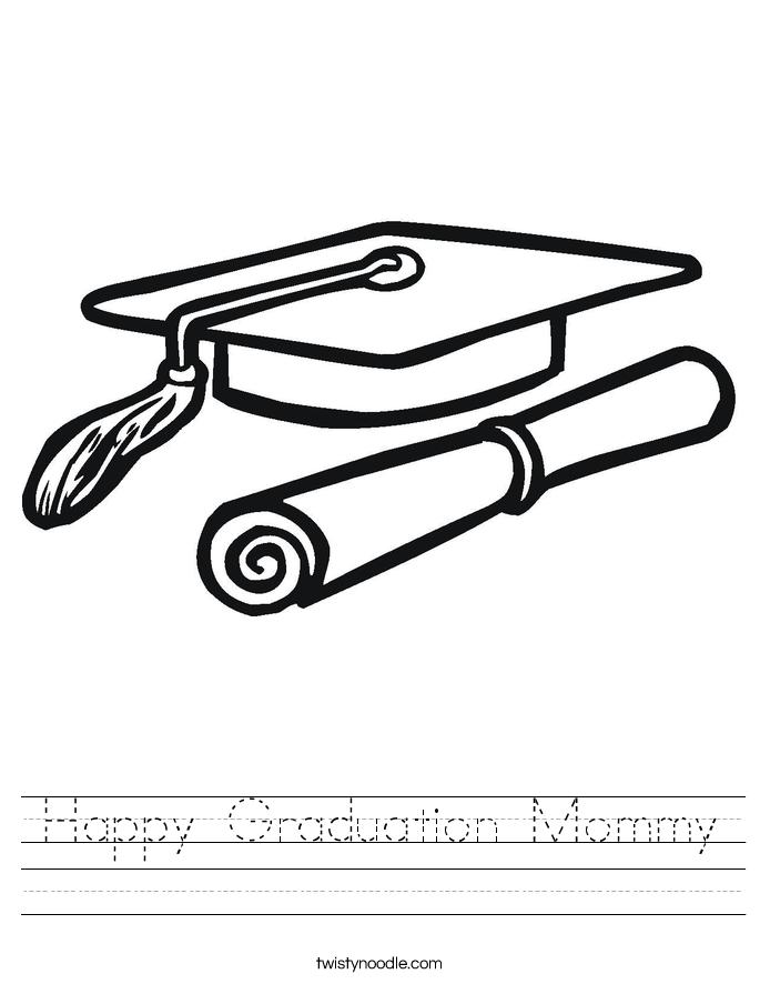 Happy Graduation Mommy Worksheet