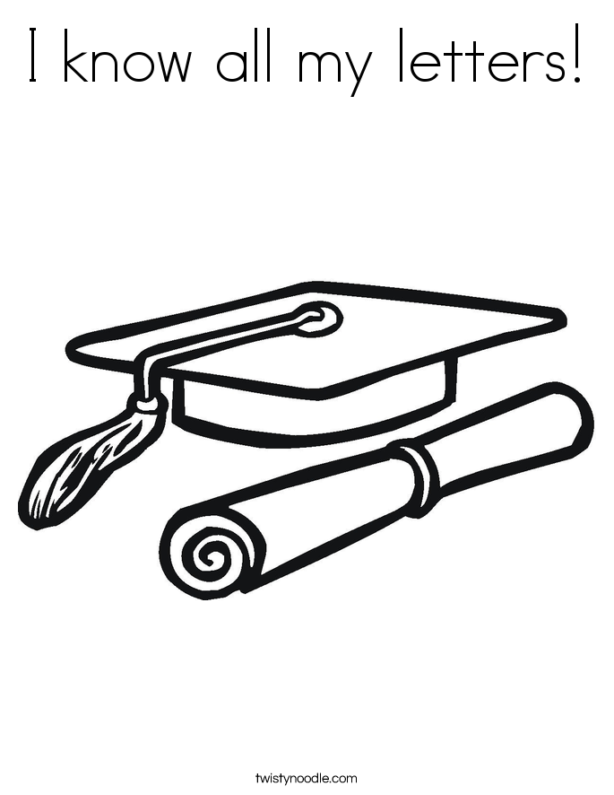 I know all my letters! Coloring Page