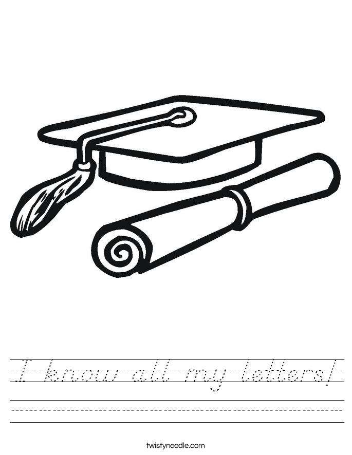 I know all my letters! Worksheet