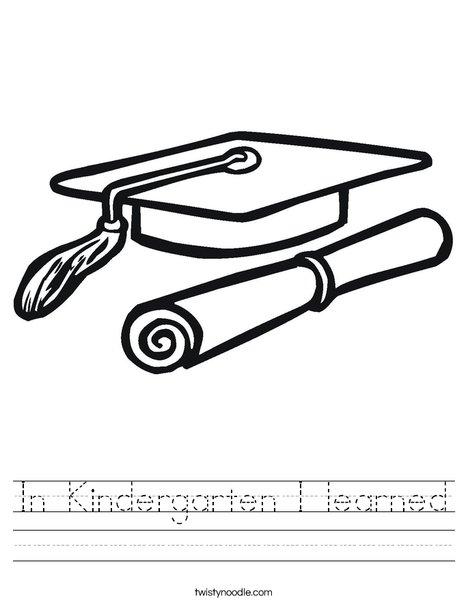 in kindergarten i learned worksheet twisty noodle. Black Bedroom Furniture Sets. Home Design Ideas