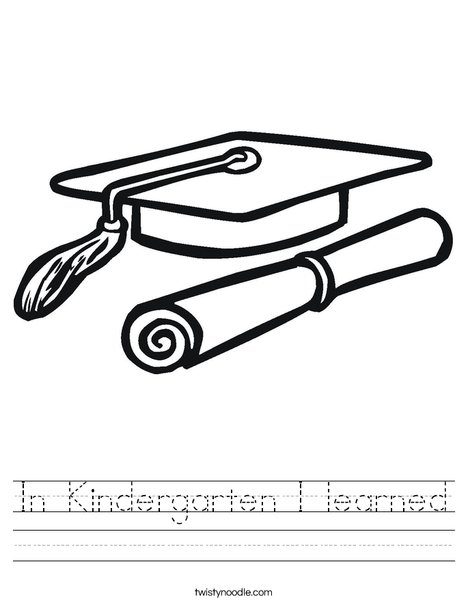 In Kindergarten I Learned Worksheet Twisty Noodle