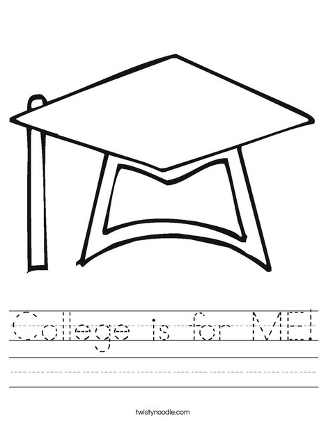 Graduation Cap Worksheet
