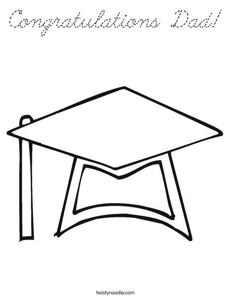 Graduation Cap Coloring Page