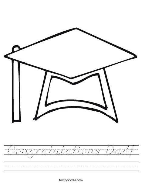Graduation Cap Worksheet