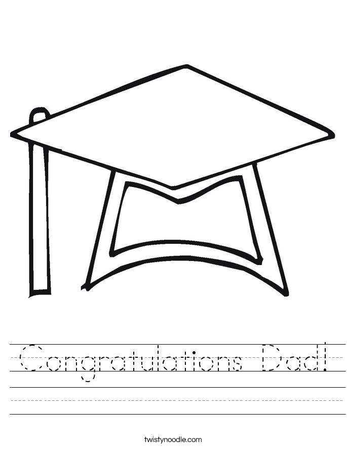 Congratulations Dad! Worksheet