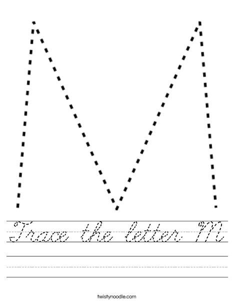 Capital Letter M Worksheet