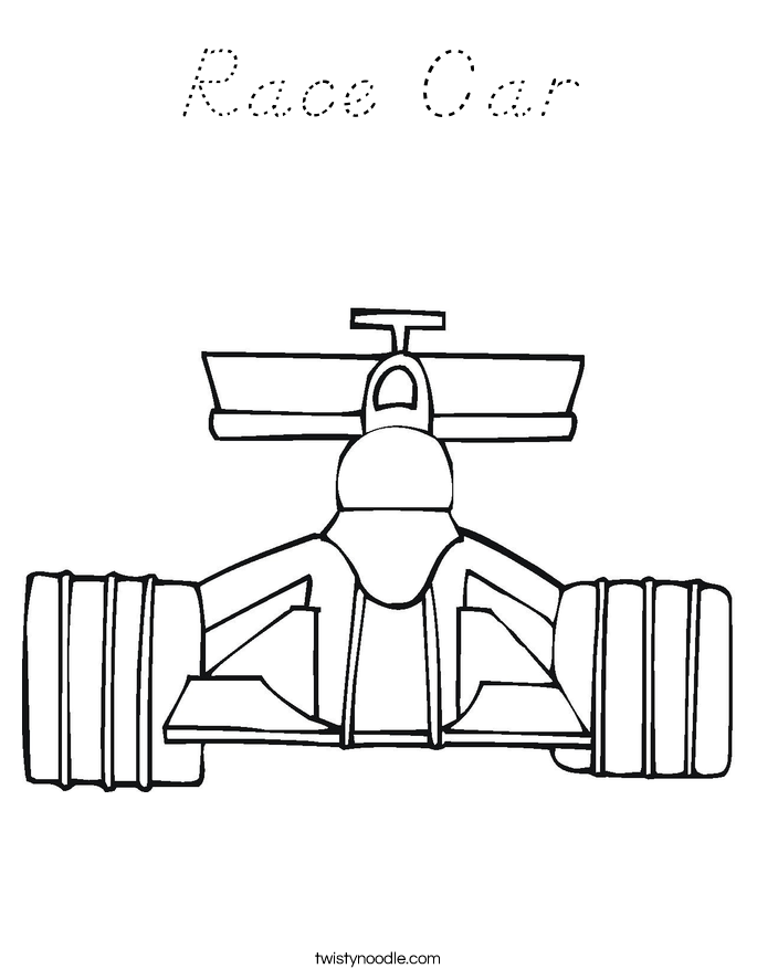 Race Car Coloring Page