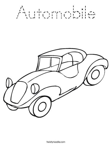 Automobile Coloring Page