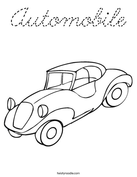 Automobile Coloring Page