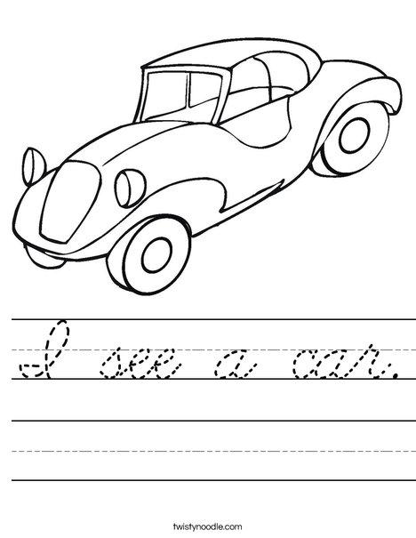 Automobile Worksheet