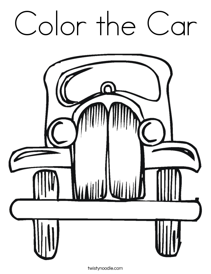 Color the Car Coloring Page