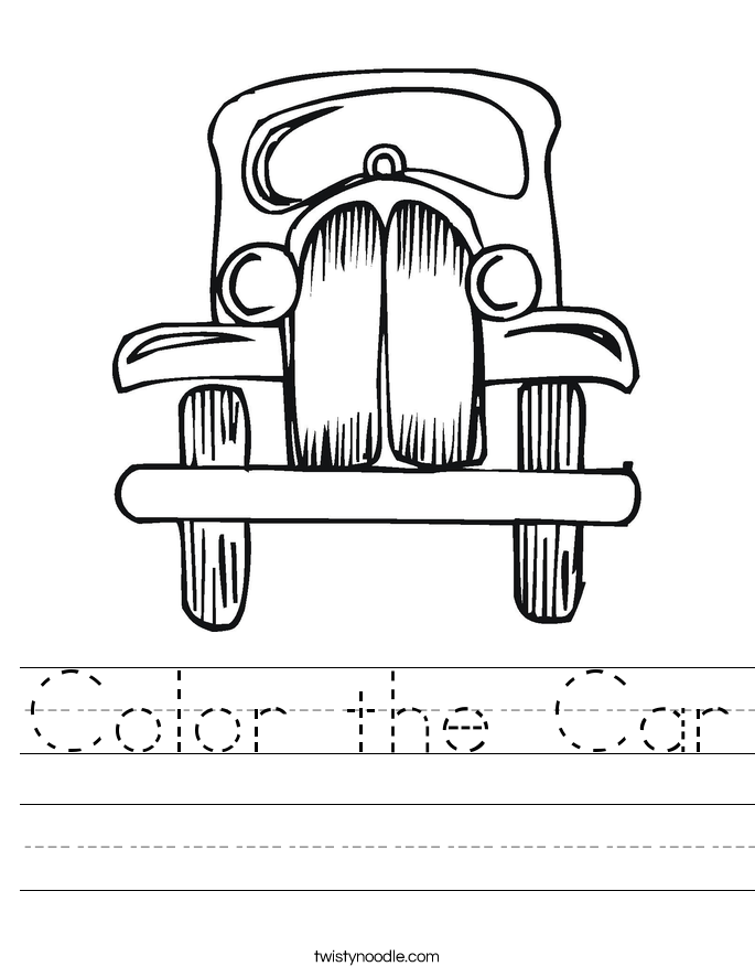 Color the Car Worksheet