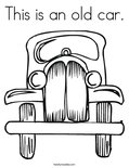 This is an old car. Coloring Page
