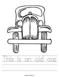 This is an old car. Worksheet