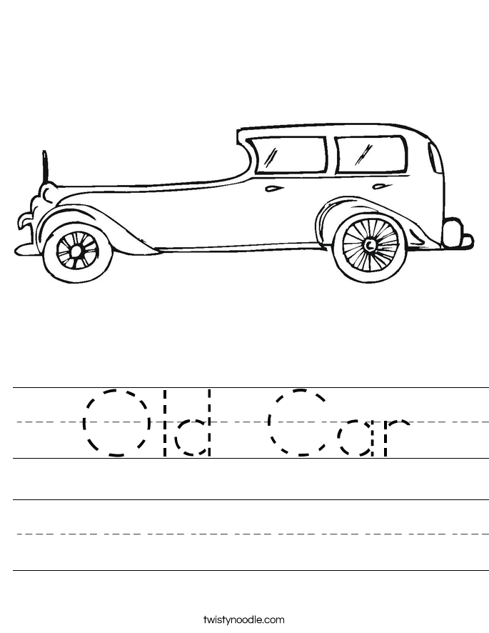 Old Car Worksheet