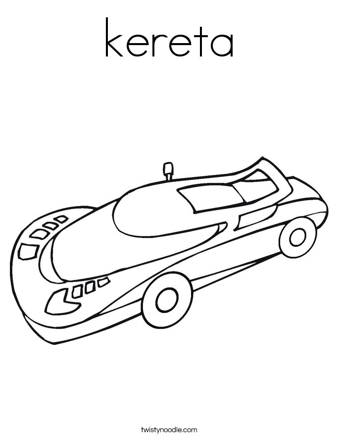 kereta Coloring Page