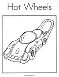 Hot WheelsColoring Page