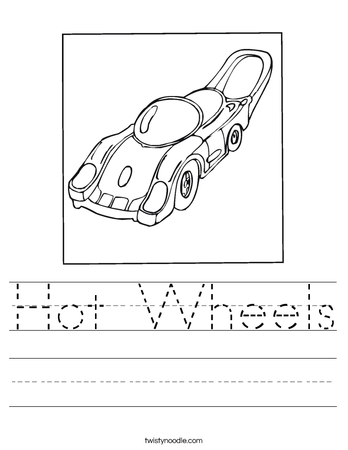 Hot Wheels Worksheet