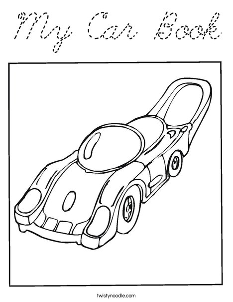 Motor Car Coloring Page