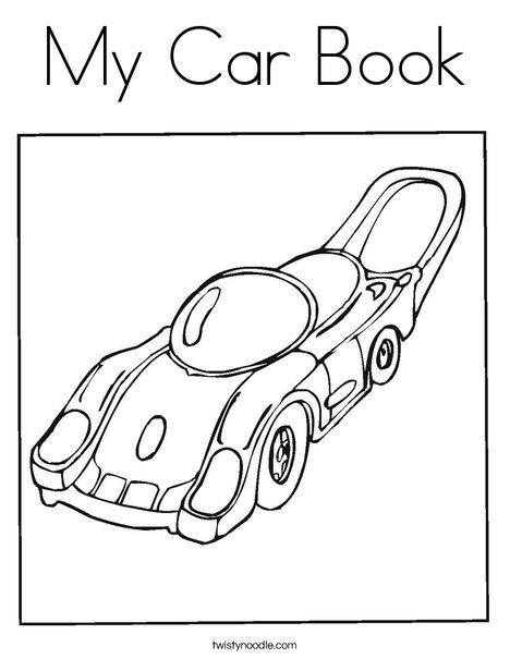 Motor Car Coloring Pages : My car book coloring page twisty noodle