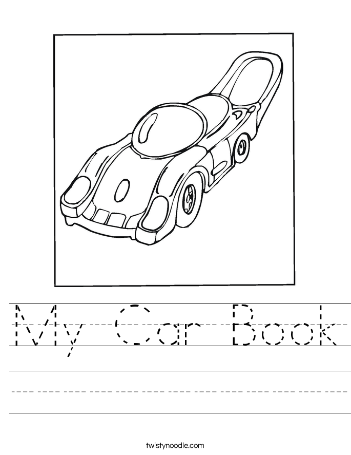 My Car Book Worksheet