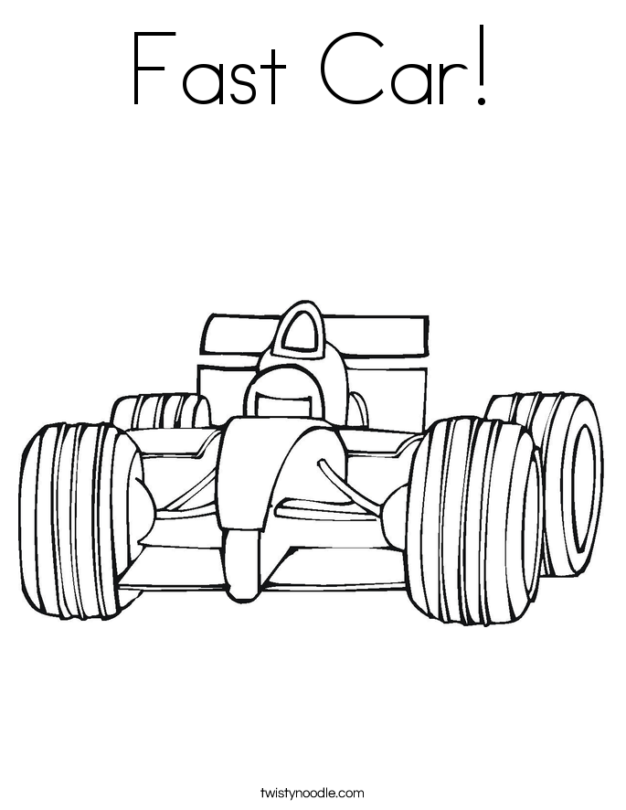 Fast Car! Coloring Page
