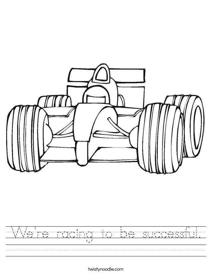 We're racing to be successful. Worksheet