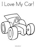 I Love My Car!Coloring Page