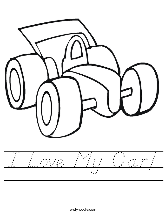 I Love My Car! Worksheet