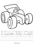 I Love My Car! Worksheet