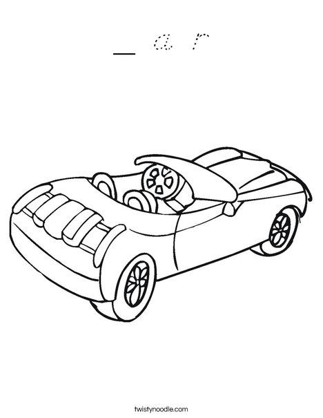 Convertible Car Coloring Page