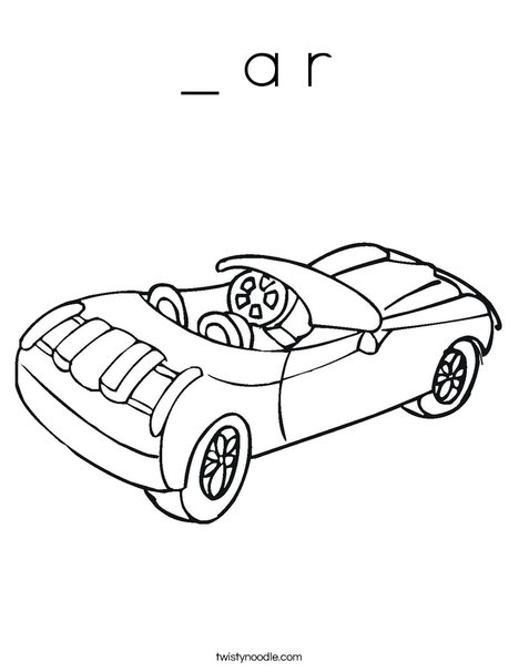 Convertible Car Coloring Page