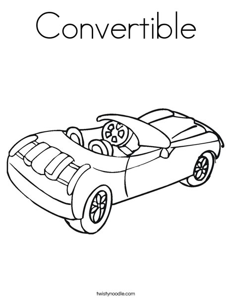 Convertible coloring pages ~ Convertible Coloring Page - Twisty Noodle
