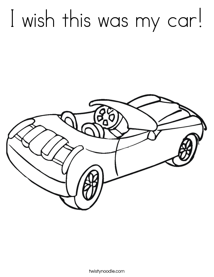 I wish this was my car! Coloring Page