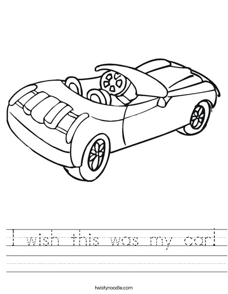 Convertible Car Worksheet