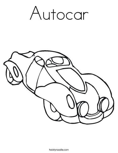Autocar Coloring Page
