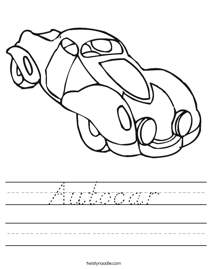 Autocar Worksheet