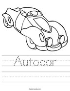 Autocar Handwriting Sheet