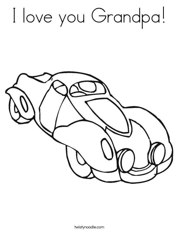 I love you Grandpa Coloring Page - Twisty Noodle